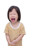 Girl crying over white Royalty Free Stock Images