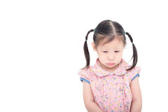 Girl crying over white Royalty Free Stock Photo