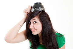 Girl with cup Royalty Free Stock Photos