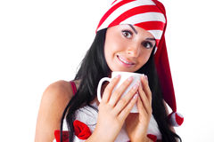 Girl with a cup Stock Photo