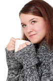 Girl with cup Royalty Free Stock Photo