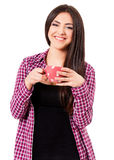 Girl with cup Stock Images