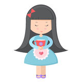 Girl with a cup Royalty Free Stock Images