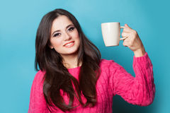 Girl with cup Stock Photo