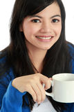 Girl with a cup of coffee Royalty Free Stock Photo