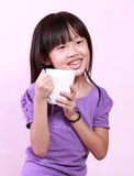 Girl and cup Royalty Free Stock Images