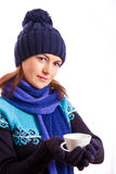Girl with a Cup Stock Image