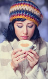 Girl with cup. Stock Images
