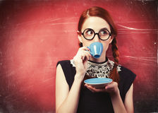 Girl with cup Royalty Free Stock Images
