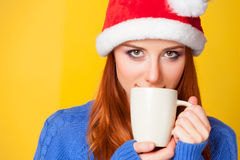 Girl with cup Stock Photos