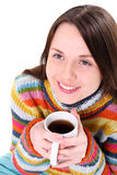 Girl with cup of tea Royalty Free Stock Photography
