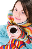 Girl with cup of tea Royalty Free Stock Photos