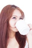 Girl With Cup of Tea Stock Photography