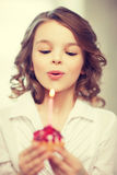 Girl with cupcake Royalty Free Stock Photo