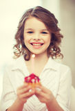 Girl with cupcake Royalty Free Stock Photography
