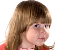 Girl with curious look Royalty Free Stock Photo