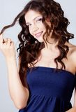 Girl with curl hair Royalty Free Stock Images