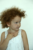 Girl with curls Royalty Free Stock Photography
