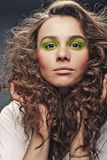 Girl with  curly hair Royalty Free Stock Images