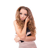 Girl with curly hair Stock Photography