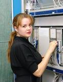 Girl customer engineer of exchange Royalty Free Stock Photos