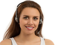 Girl Customer Support Royalty Free Stock Photography