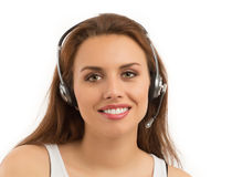 Girl Customer Support Stock Photos