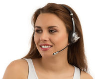 Girl Customer Support Royalty Free Stock Image