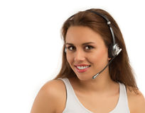Girl Customer Support Royalty Free Stock Photo