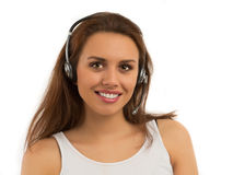 Girl Customer Support Stock Images