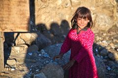 Girl, Cute, Afghanistan, Person Stock Image
