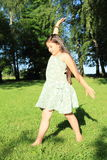 Girl in cute dress Royalty Free Stock Photos