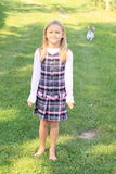Girl in cute dress Royalty Free Stock Photo