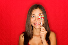 Girl cute funny portrait Stock Photos