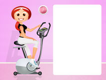 Girl on cyclette. Illustration of girl on cyclette Stock Image