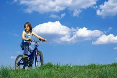 Girl cycling Royalty Free Stock Photos
