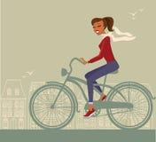 Girl cycling Royalty Free Stock Photo