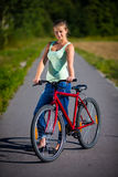 Girl cycling Royalty Free Stock Image