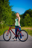 Girl cycling Royalty Free Stock Photography