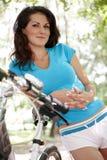 Girl Cyclist Stock Photo