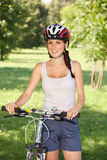 Girl Cyclist Royalty Free Stock Photo