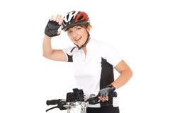 Girl Cyclist Stock Image