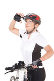 Girl Cyclist Stock Photography
