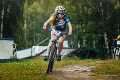 Girl cyclist Royalty Free Stock Images