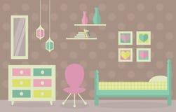 Girl& x27 ; décoration intérieure de pièce de s Photographie stock libre de droits