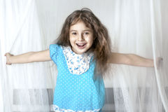 Girl dabbles Royalty Free Stock Images