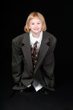 Girl in Dad's Business Suit Stock Photos