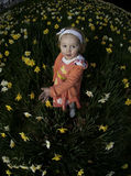 Girl in daffodils no.3 Stock Photos