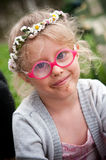 Girl with daisies Royalty Free Stock Images