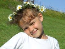 Girl with daisy Stock Photo